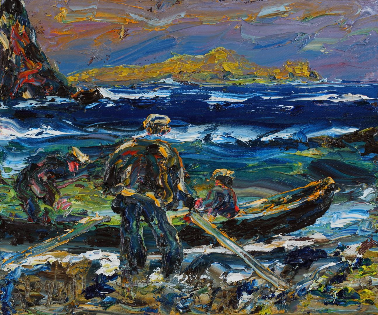 Paintings Of Making Lobster Pots